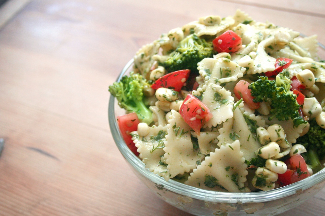 Fresh Corn and Herb Pasta Salad - Thug Kitchen