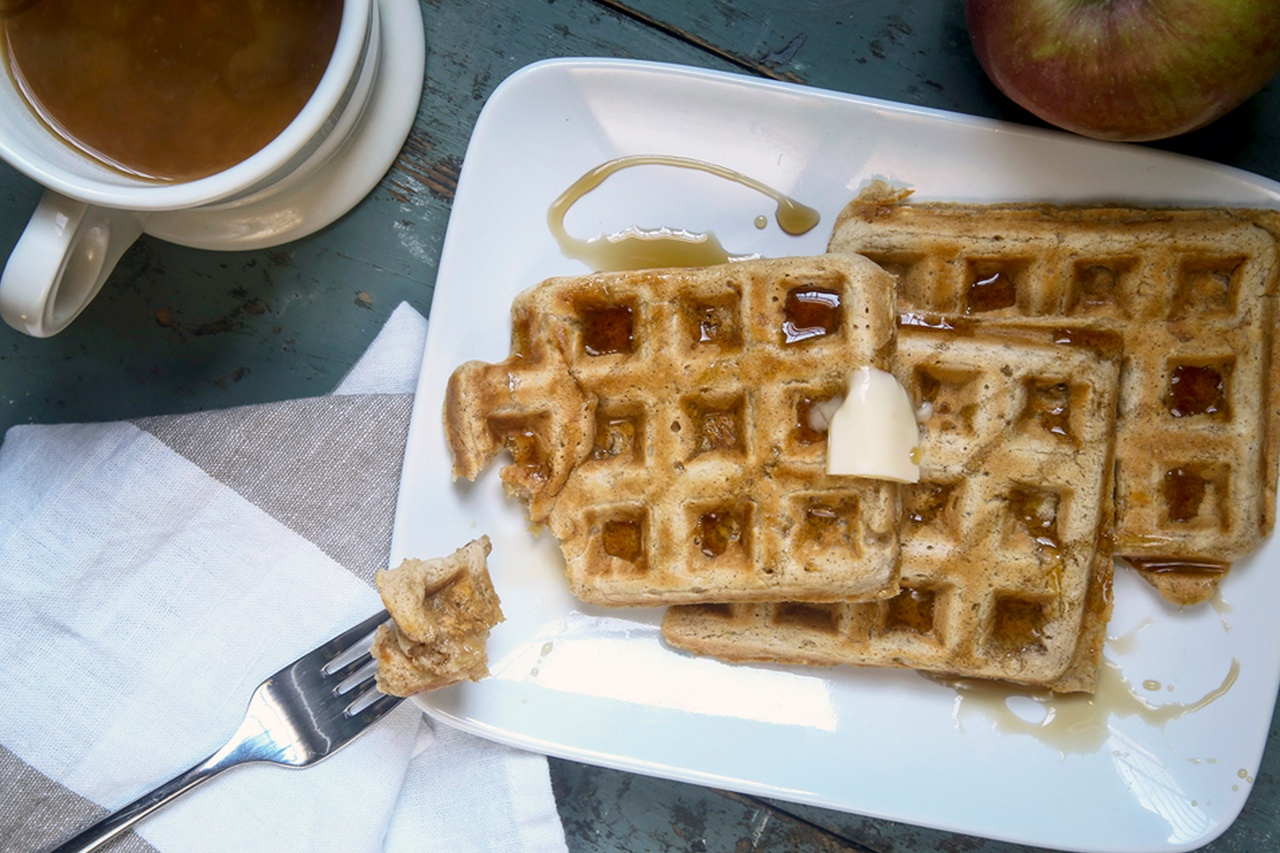 Spiced Apple Waffles - Thug Kitchen
