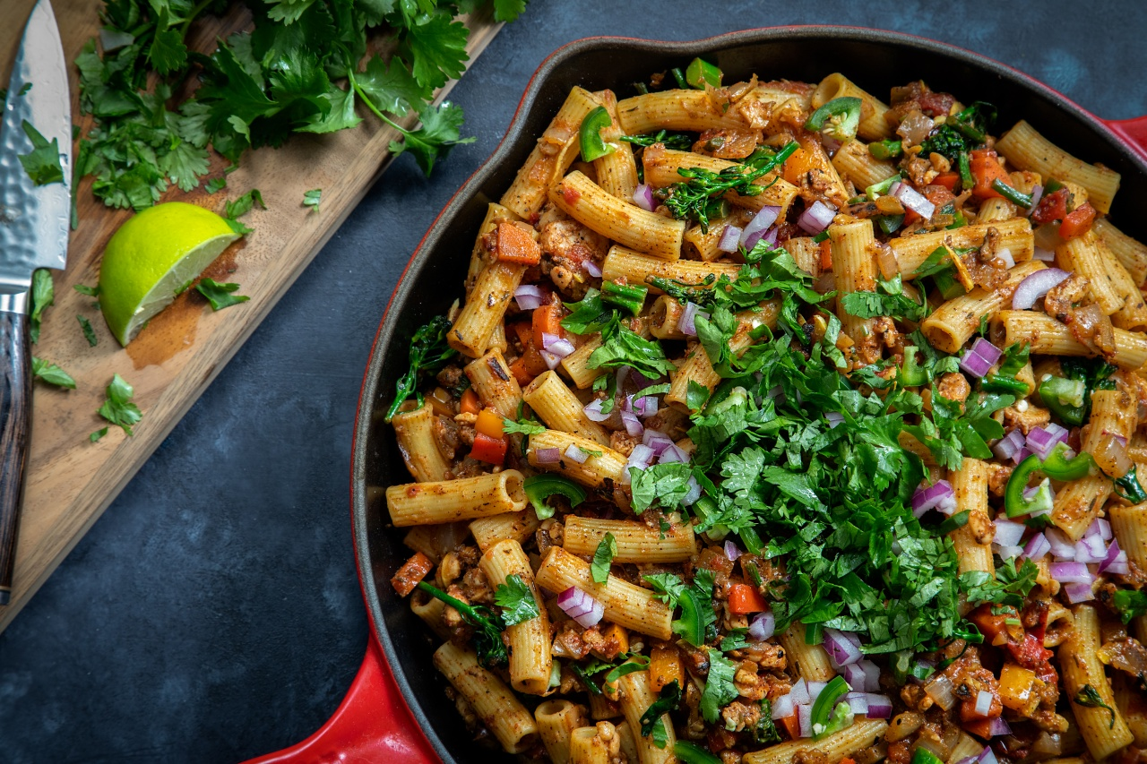 Skillet Tempeh Pasta - Thug Kitchen Recipe