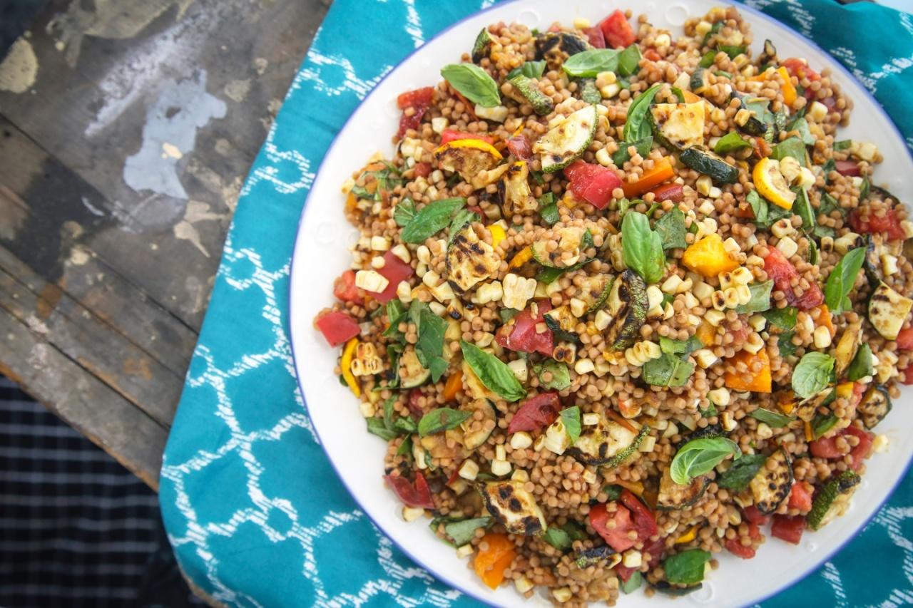 Grilled Veggie Couscous Salad   Thug