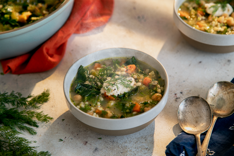 Chickpea and Barley Soup
