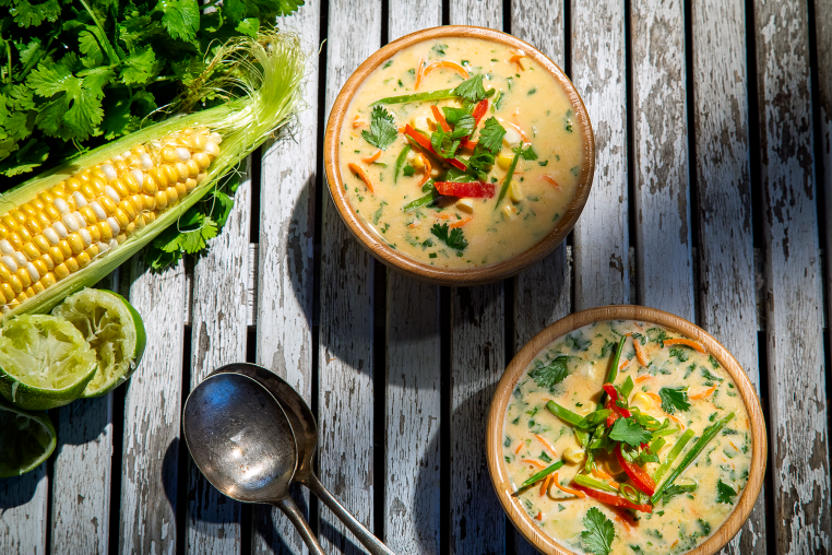 Chilled Coconut Summer Soup