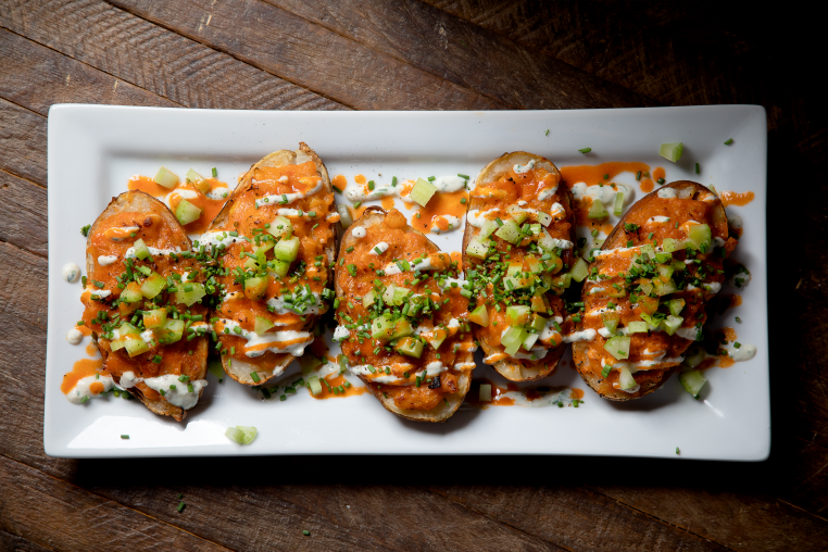 Buffalo Twice Baked Potatoes