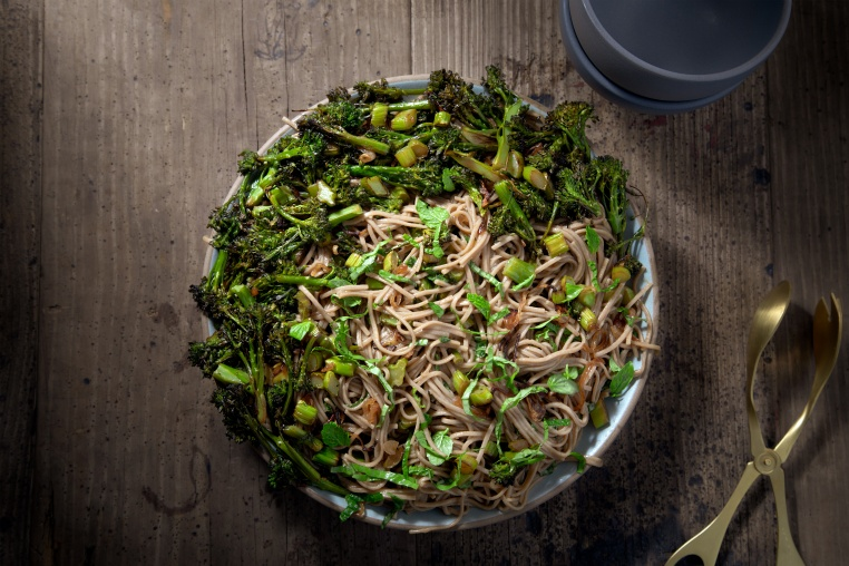 Roasted Broccolini Herb Noodles - Thug Kitchen