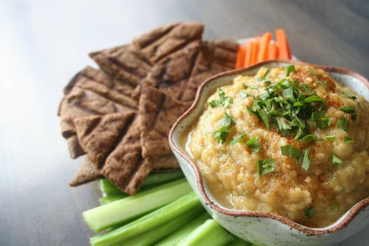 Smokey Eggplant Dip (Baba Ganoush) - Thug Kitchen