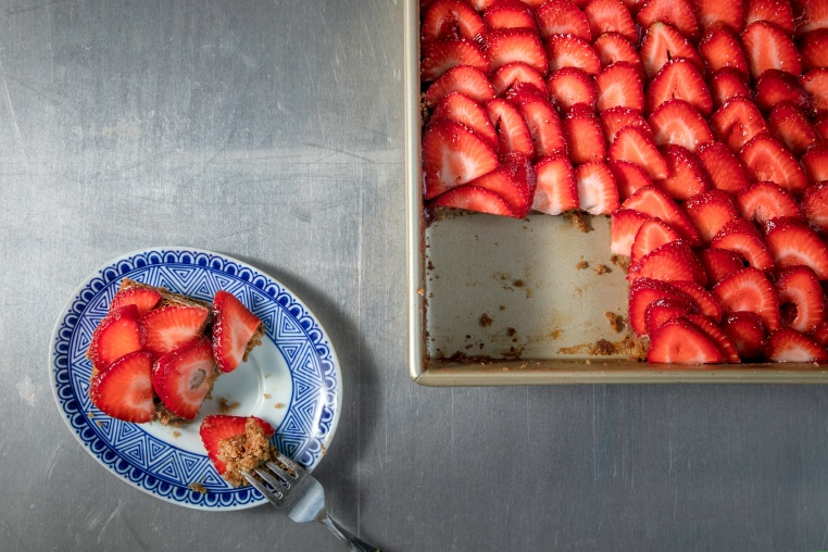 Summertime Strawberry Sheet Cake