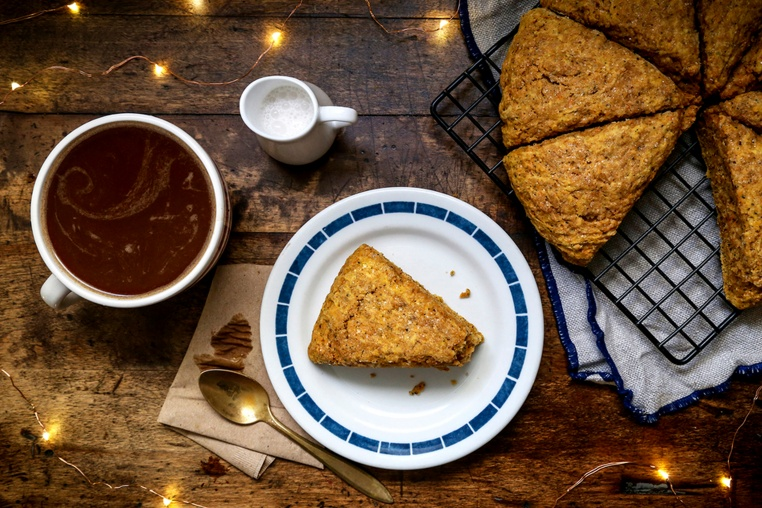 Sweet Potato Chai Spiced Scones - Thug Kitchen
